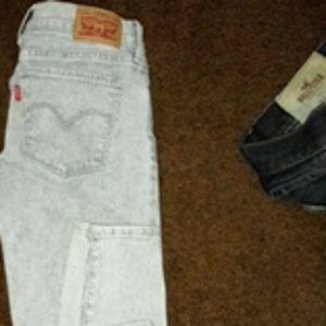 Womens super skinny Levi jeans